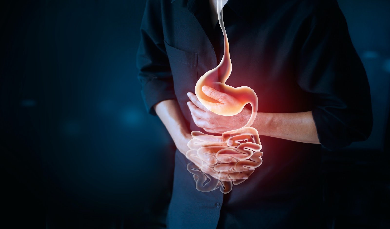 Restore Gut Health: Image of a person with a painful stomach ache
