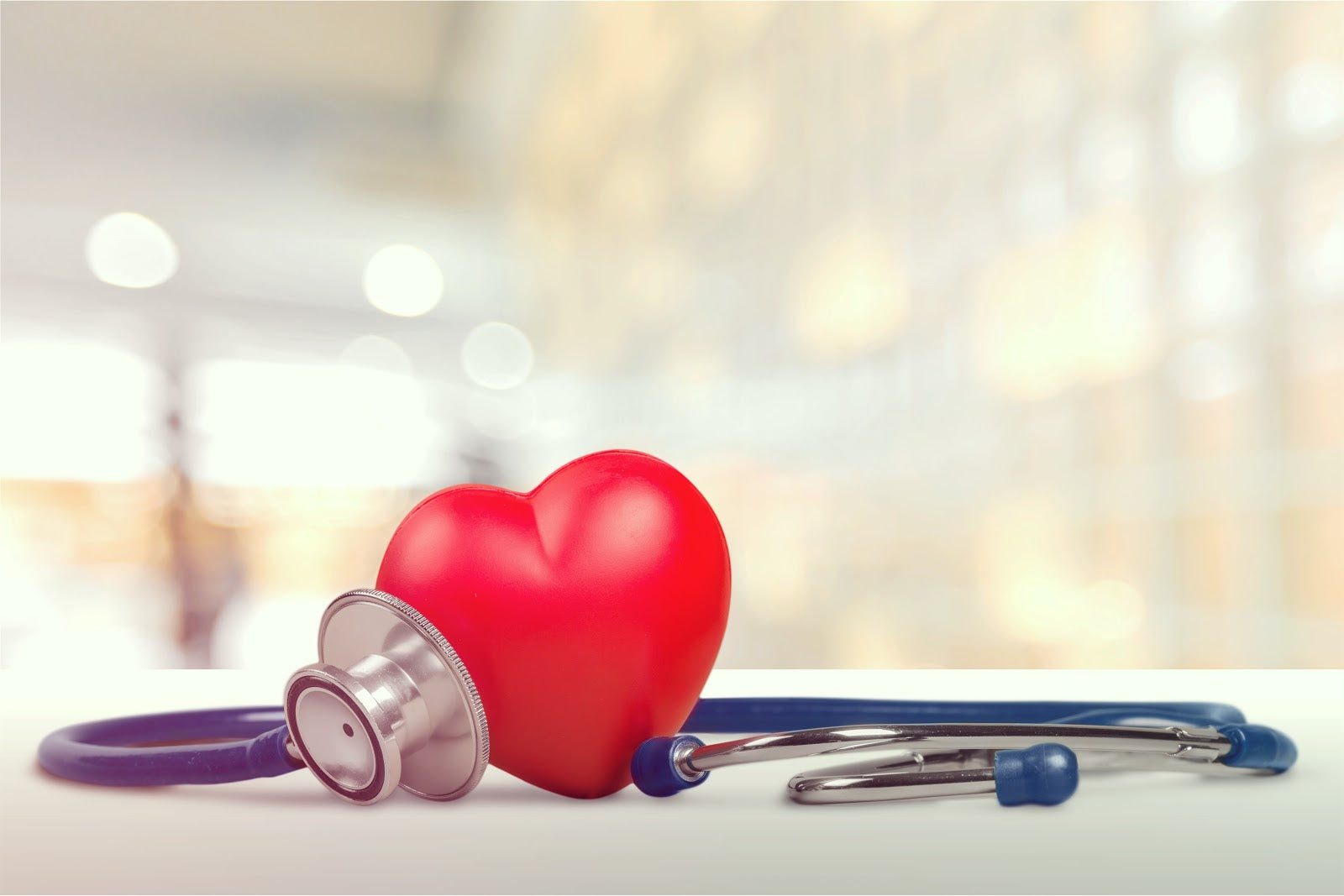 Benefits of collagen include heart health: Close-up of stethoscope
