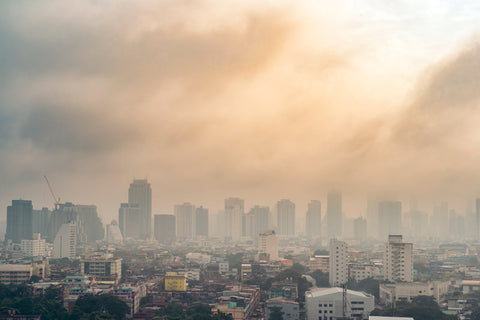 cloudy city view