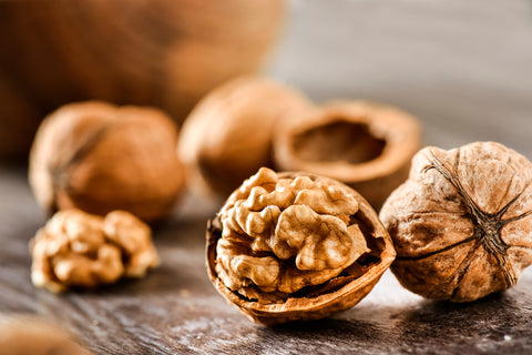 Walnuts on a table