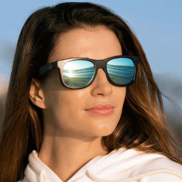 Black Bamboo The Tennis Fever Sunglasses for Tennis Lovers