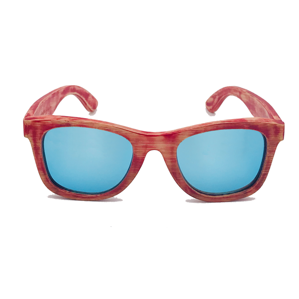 The Tennis Fever Washed Bamboo Sunglasses
