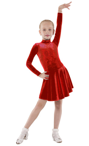Juvenile Velvet Bordo Dress