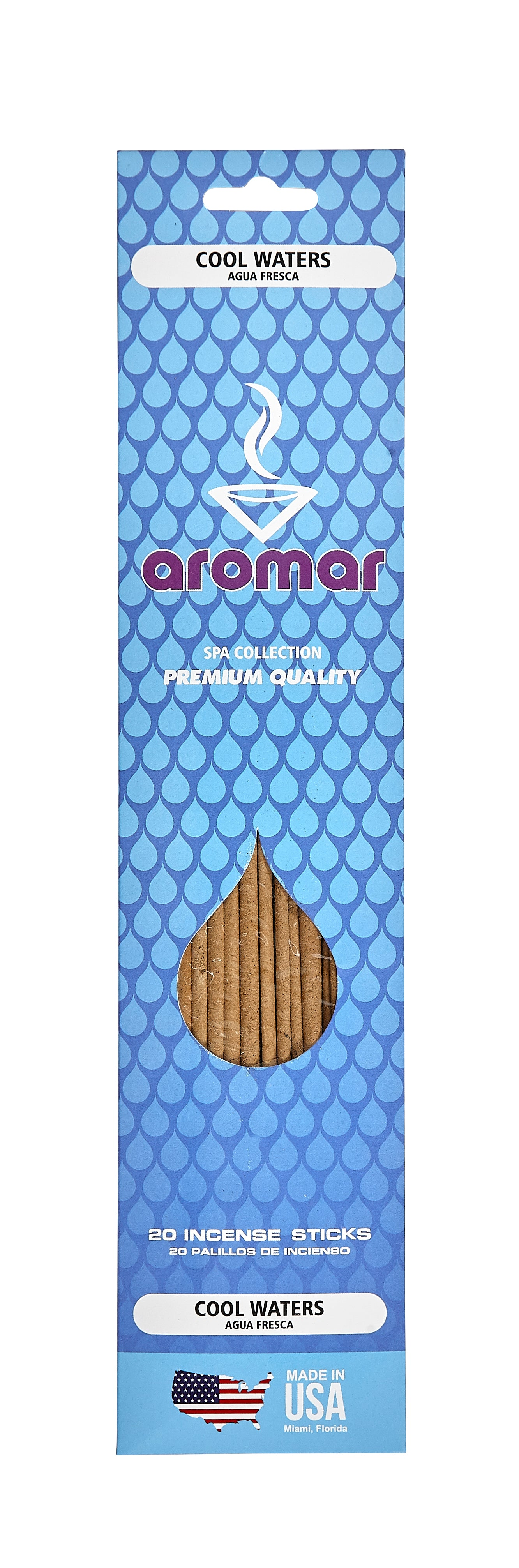 Cool Waters Premium Hand Dipped Pre-Packed Incense