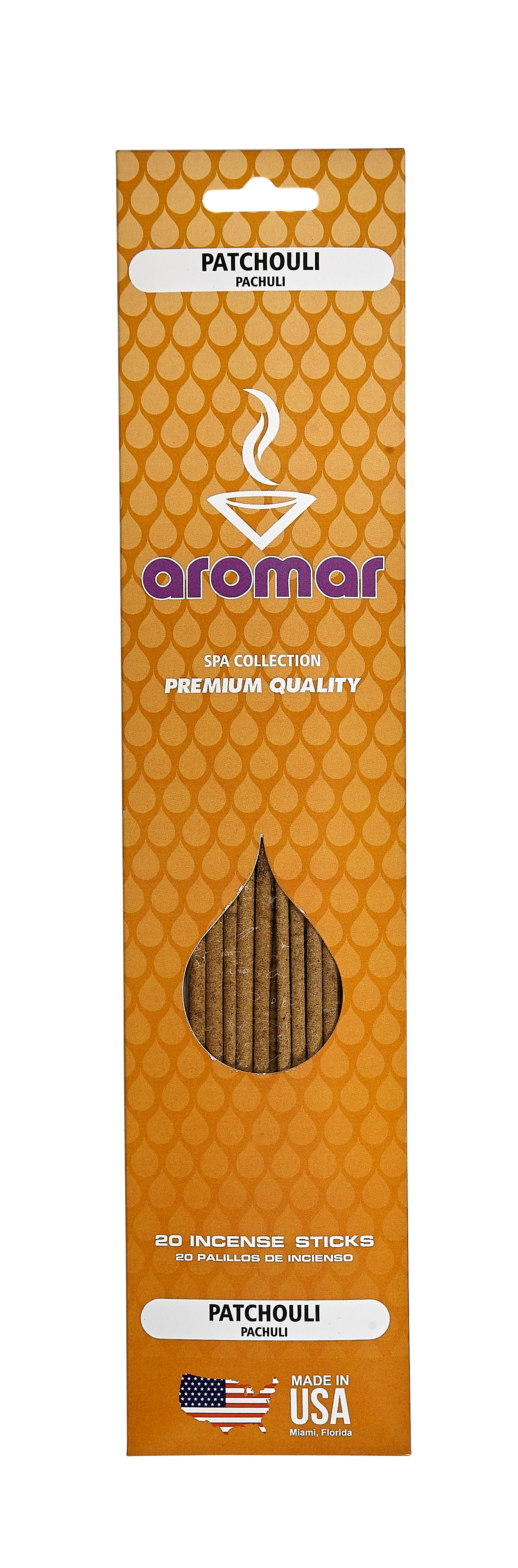 Aromar Premium Patchouli Hand Dipped Incense Sticks