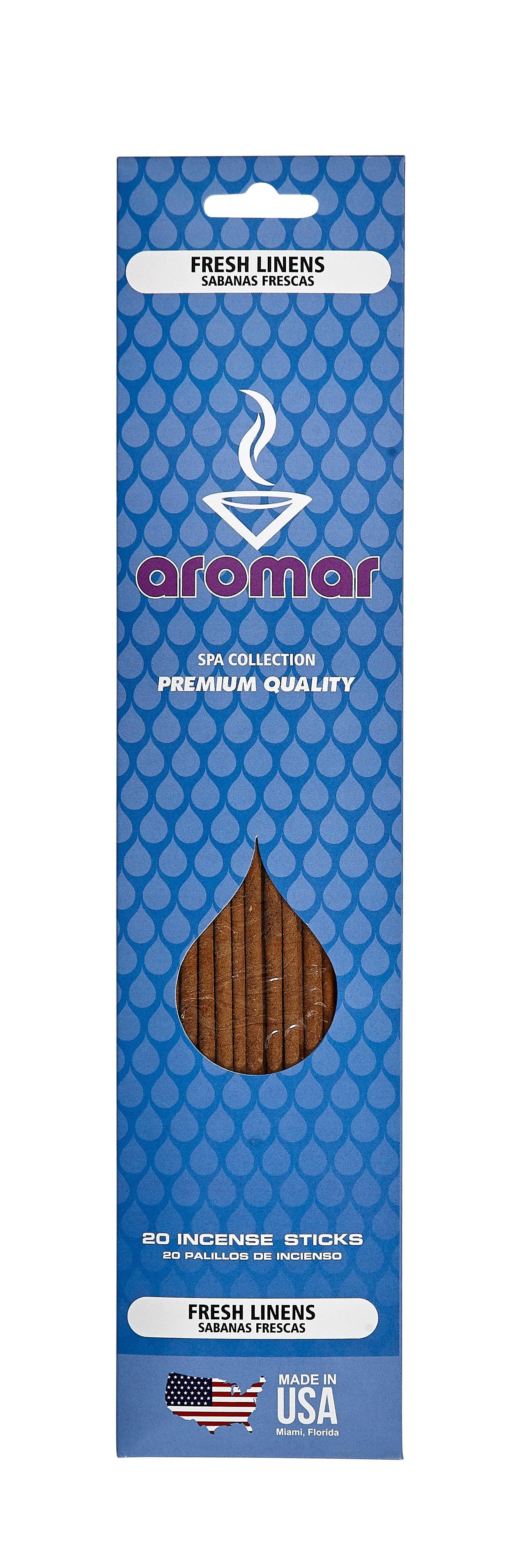 Fresh Linens Premium Hand Dipped Pre-Packed Incense