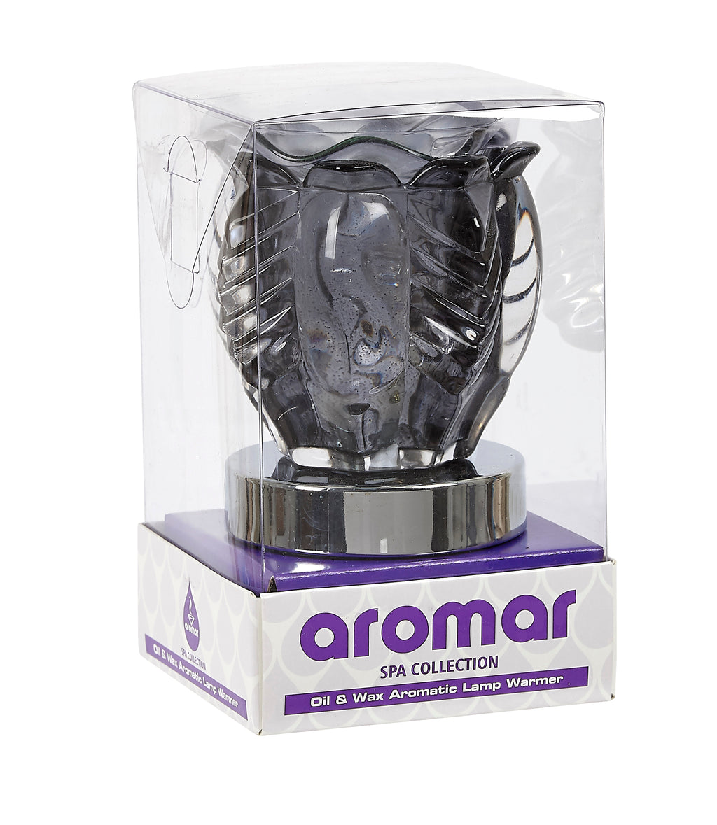 Aromar Glass Leaf Inner Cylinder Oil Warmer- Electric Touch Lamp