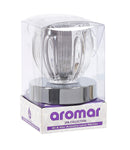 Aromar Glass Petal Inner Cylinder Oil Warmer- Electric Touch Lamp