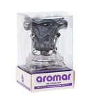 Aromar Glass Rose Oil Warmer- Electric Dimmer Lamp