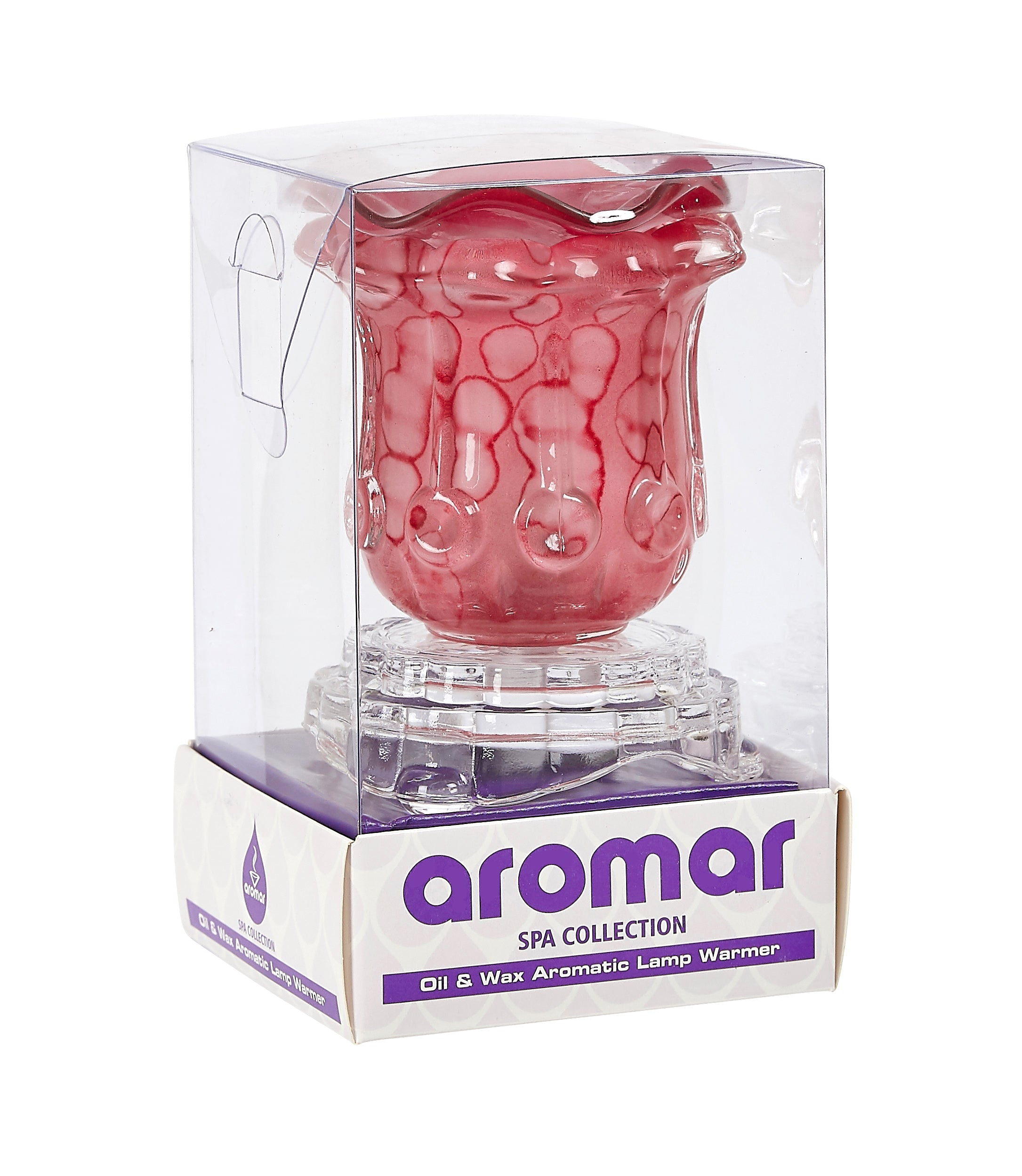 Aromar Glass Tulip Oil Warmer- Electric Dimmer Lamp