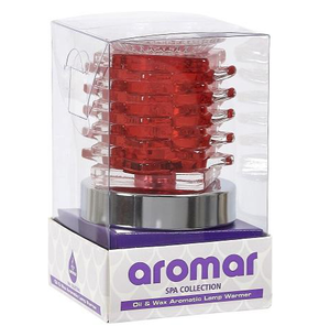 Aromar Glass Deco Oil Warmer- Electric Touch Lamp