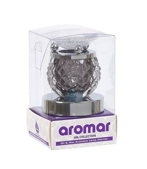 Aromar Glass Geo Oil Warmer- Electric Touch Lamp