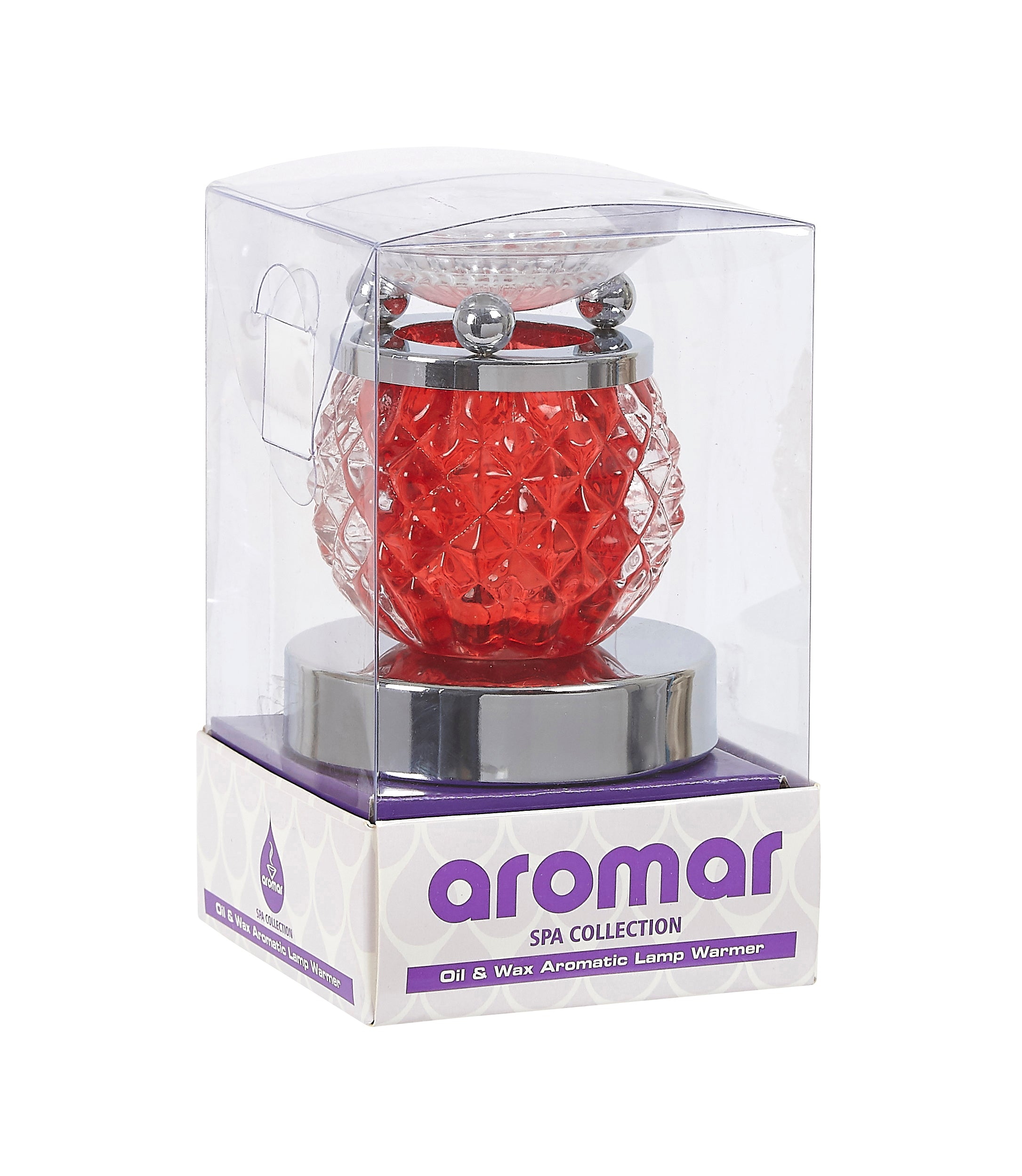 Aromar Glass Studs Oil Warmer- Electric Touch Lamp