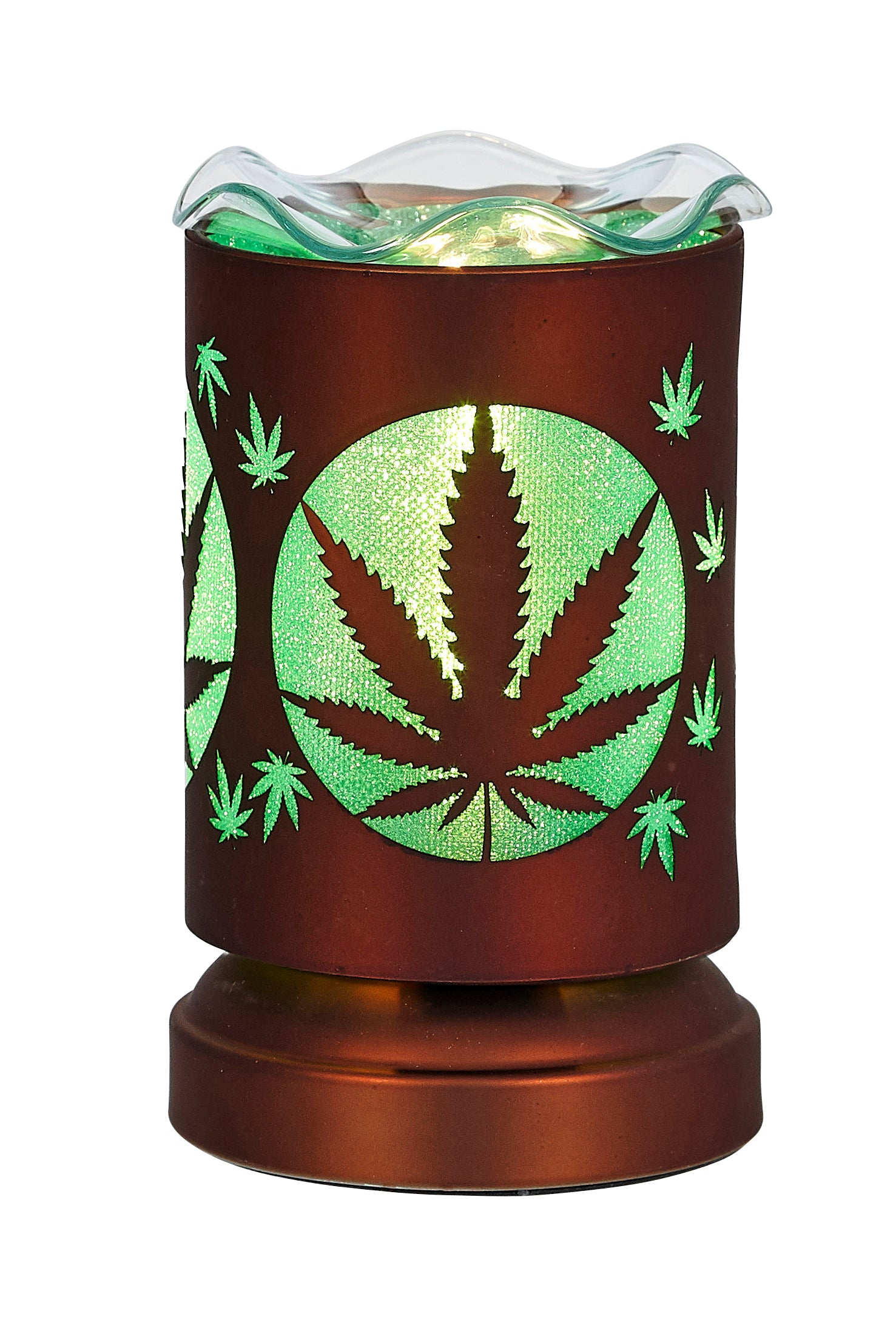 Fragrance Oils & Wax Ceramic Burner Warmer Cannabis Cooper
