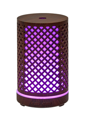 Wood Grain Diamond Cut-Out Ultrasonic Diffuser 100mL