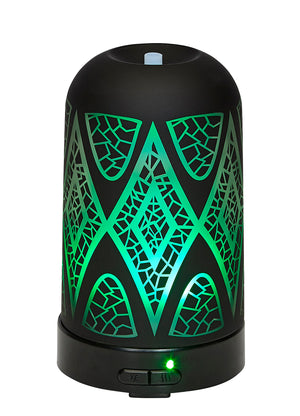 Ultrasonic Aroma Oil Diffuser Modern Glass Black Design 100ml | AROMAR