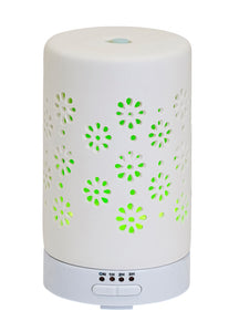 USB / PLUG Ceramic Ultrasonic Diffuser Flower Design 70ml | AROMAR