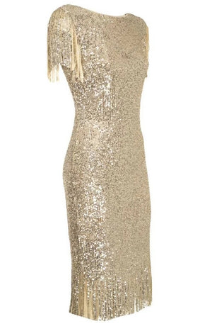 Sequin Tassel Dress