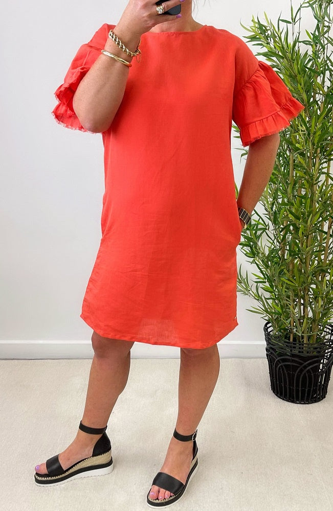Lagos Dress - Red