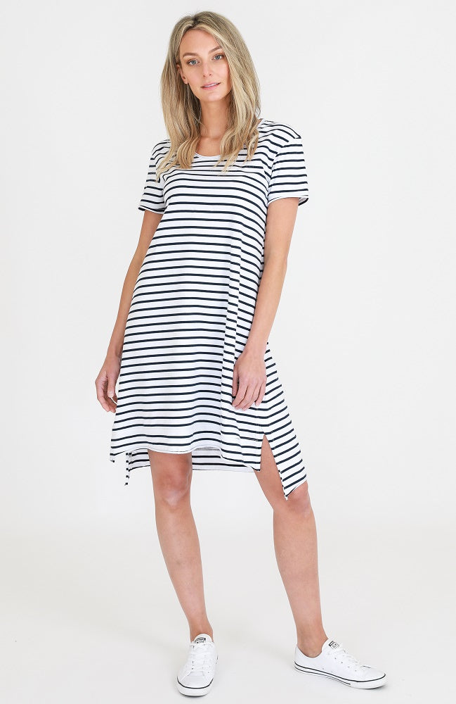Megan Tunic - Navy Stripe