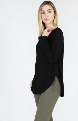 Scarlett Long Sleeve Tee - Black
