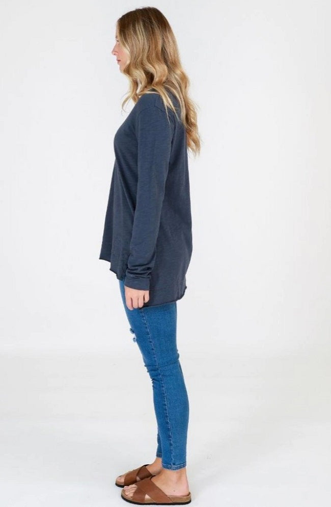 Barwon Long Sleeve Tee - Indigo