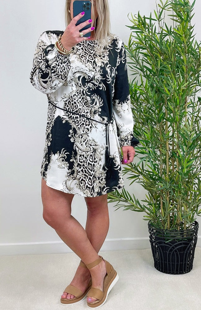 Animal Paisley Dress
