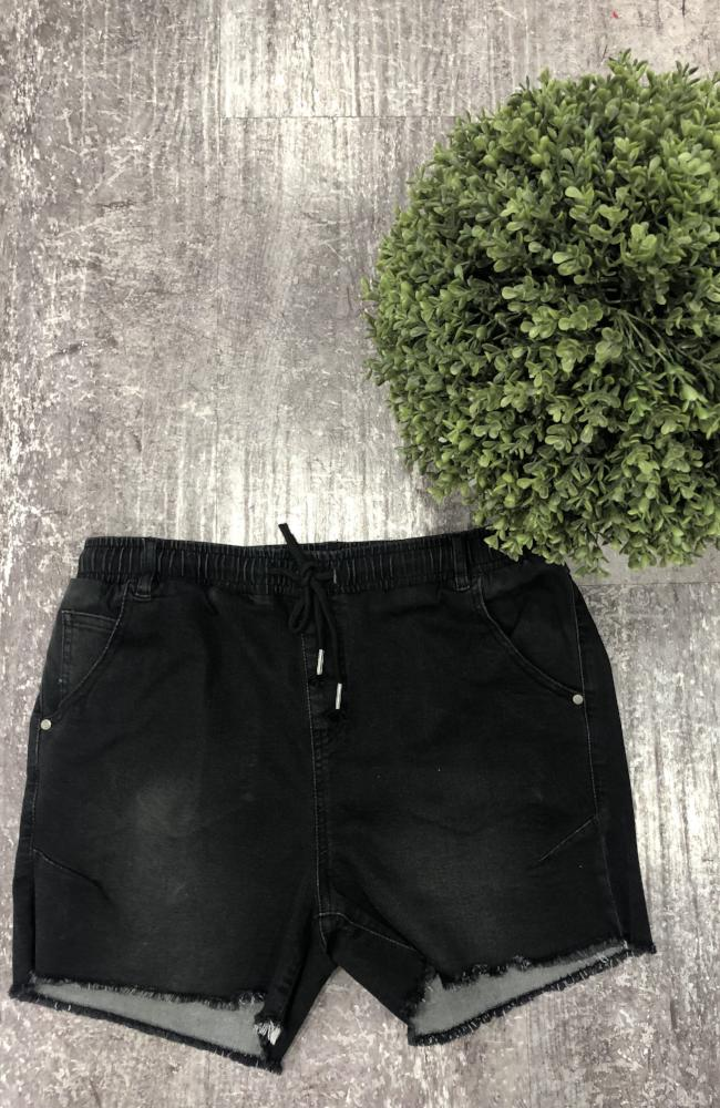Pearl Short - Washed Black