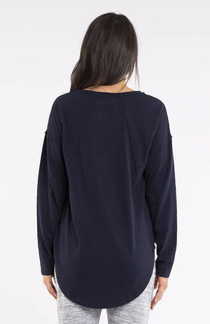 Mackenzie Long Sleeve Crew - Navy