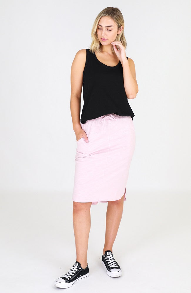 Olivia Skirt - Blush Marle
