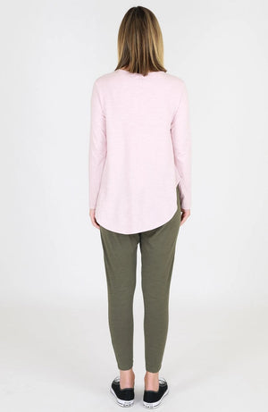 Scarlett Long Sleeve Tee - Blush