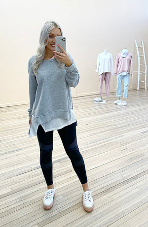 Ulverstone Sweater - Grey Marle