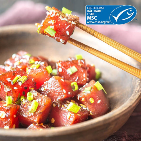 Vit Tonfisk Poke 14mm MSC
