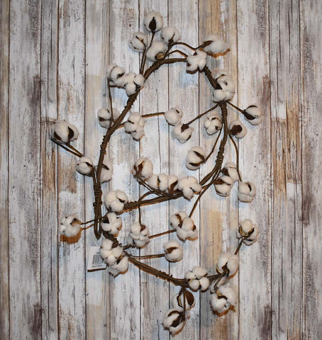 Cotton Stem: Cotton Boll garland | Burlap Basement