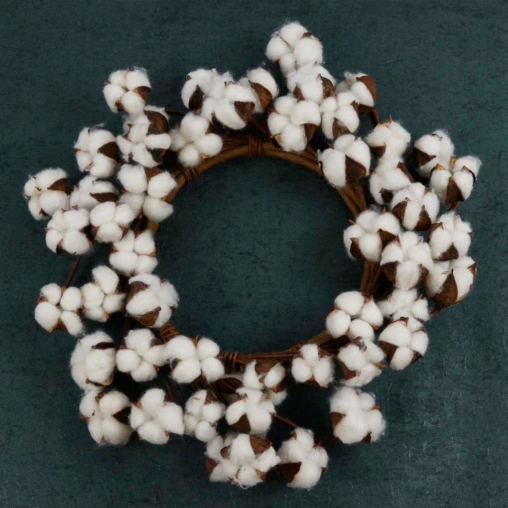 Cotton Stem: Cotton Wreath | Burlap Basement