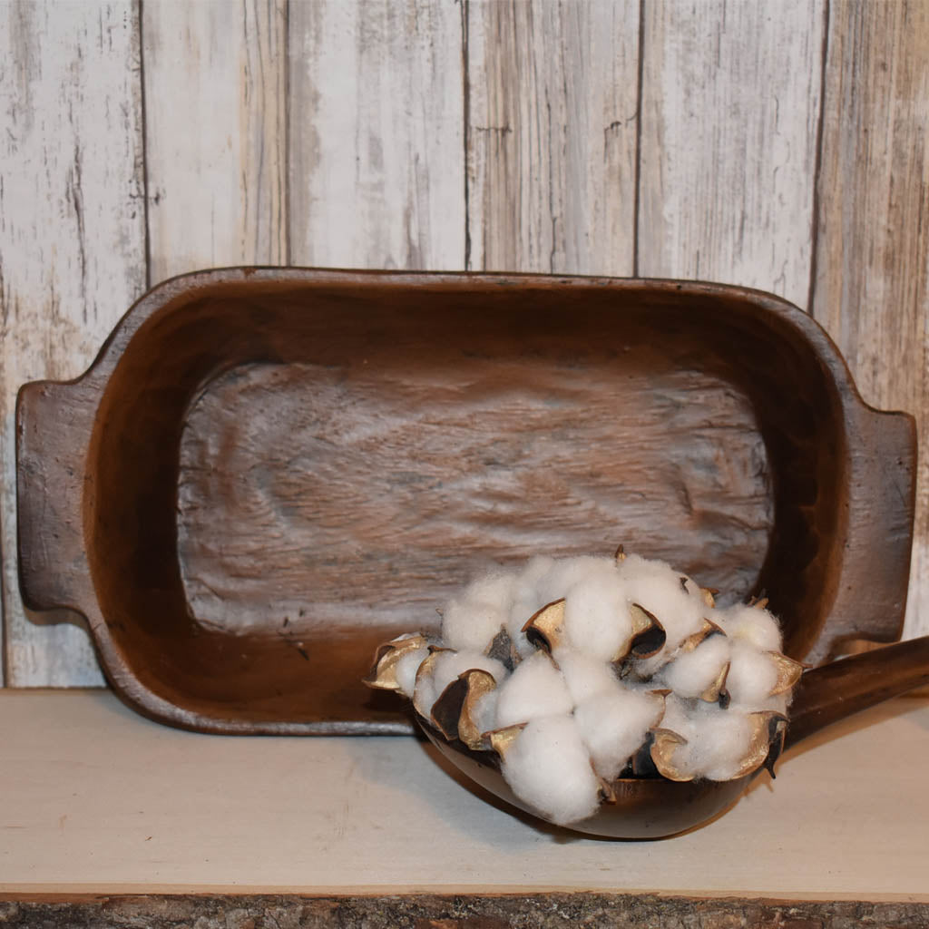 Primitive Kitchen Décor: Wooden Dough Bowl | Burlap Basement