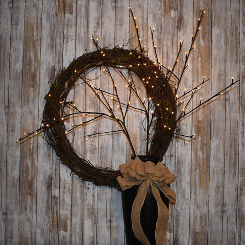 Twig Wreaths: Lighted Branches Electric | Burlap Basement