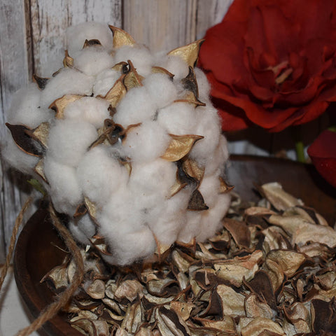 Cotton Stem: Cotton Ball Décor | Burlap Basement