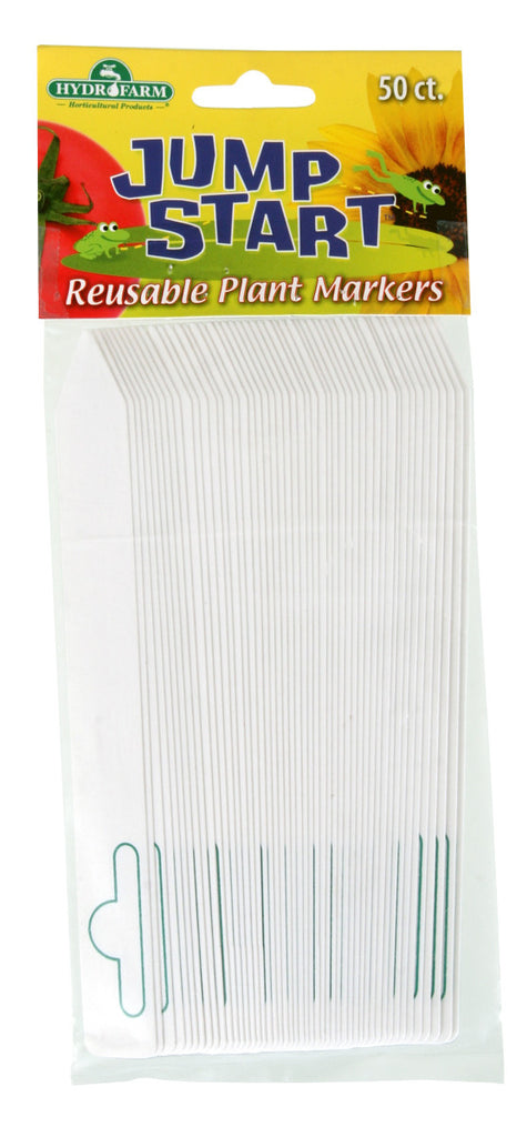 "Jump Start Plant Stake Labels White 6""x5"""