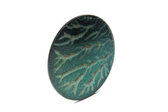 vein brooch green 2
