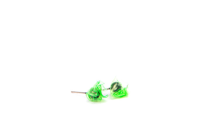 green glassy studs big