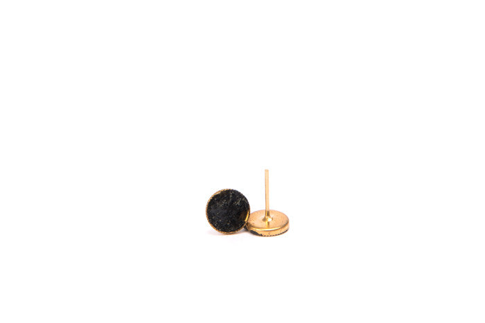 black and gold earrings small