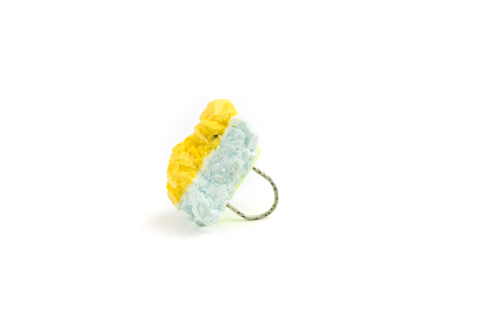 The Miami Dream Series Jewellery, silver, resin and perspex ring, Chloe Rose Taylor, artist, jewellery, jeweller, Dirt Gallery, online gallery, Artists, artworks.