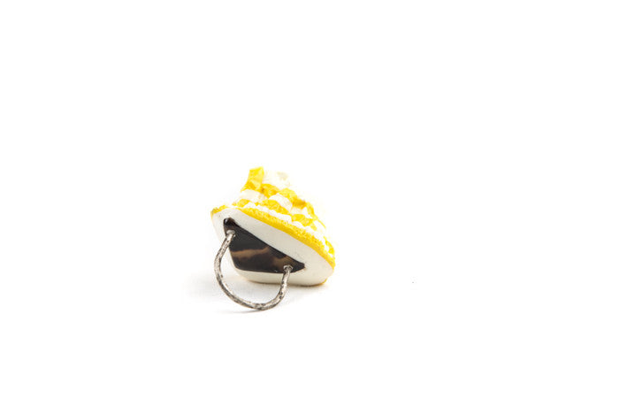 The Miami Dream Series Jewellery, Sterling silver, tortoise shell and resin ring, Chloe Rose Taylor, artist, jewellery, jeweller, Dirt Gallery, online gallery, Artists, artworks.