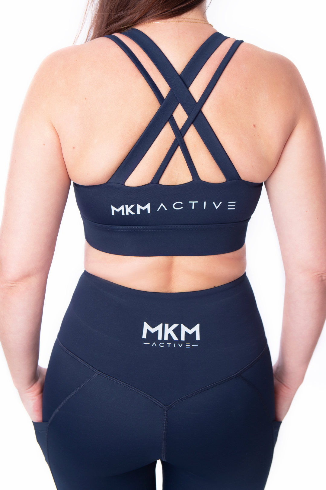 MKM ACTIVE HIGH SUPPORT CROP DEEP NAVY
