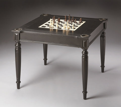 Butler Furniture Vincent Black Licorice Multi-Game Card Table 837111 - BarStoreUSA