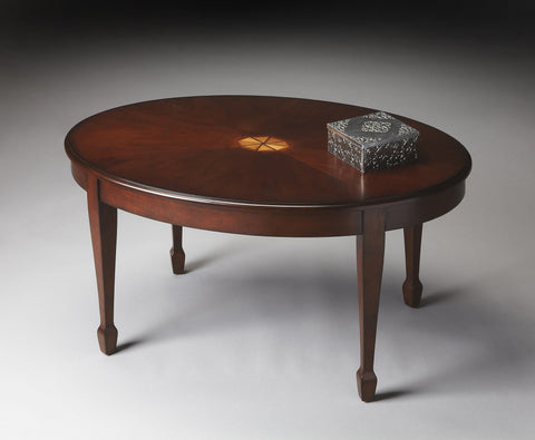 Butler Furniture Clayton Plantation Cherry Oval Cocktail Table 1234024 - BarStoreUSA