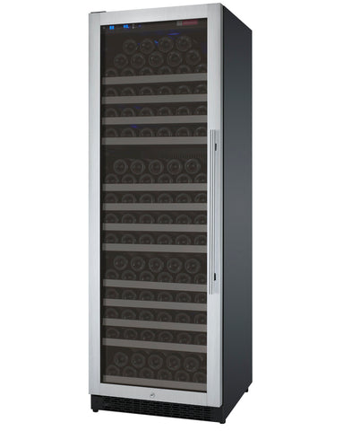 "Allavino 24"" Wide FlexCount II Tru-Vino 177 Bottle Single Zone Stainless Steel Left Hinge Wine Refrigerator Model: VSWR177-1SL20"