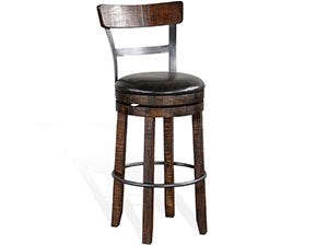 Sunny Designs Homestead Swivel Barstool 1624TL2-B30