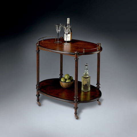 Butler Furniture Kathleen Cherry Bar Cart Server 1690024 - BarStoreUSA